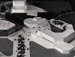 Architect's model of the Arts Centre and Senate House
