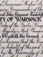 Part of the Royal Charter of Incorporation 1965